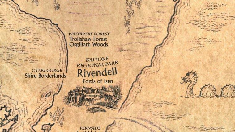 Refaça o trajeto dos filmes de Tolkien com este mapa