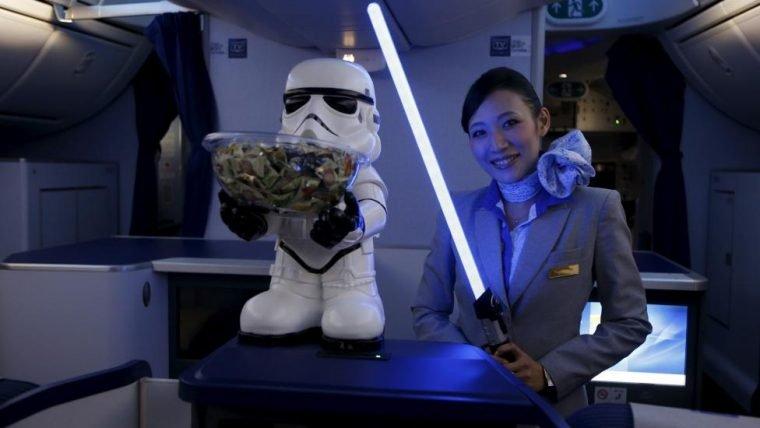 Aviões de empresa japonesa levam o hype de Star Wars para as alturas