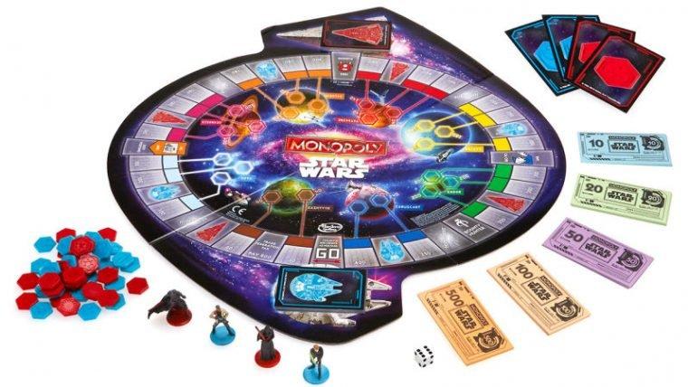 Vilões e heróis de Star Wars se enfrentam no tabuleiro de Monopoly