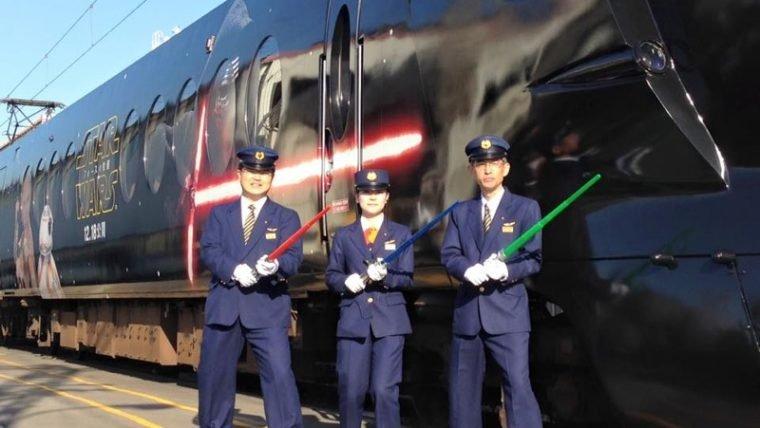 Japão inaugura trem temático de Star Wars