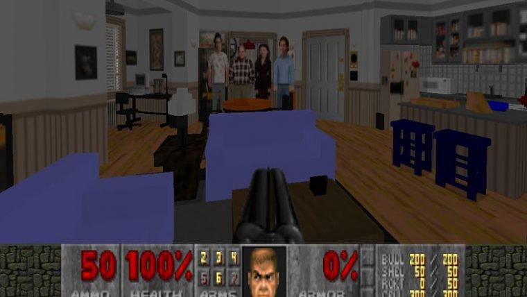 Colocaram o apartamento do Seinfeld em Doom II e o resultado ficou incrível