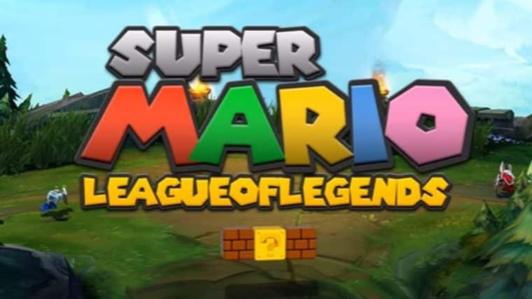 Vídeo mistura Super Mario com League of Legends