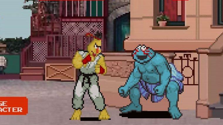 Aprenda a digitar rápido com jogo que une Vila Sésamo e Street Fighter