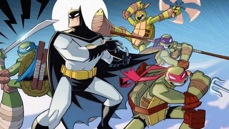 Novo crossover de Batman e Tartarugas Ninjas ganha capas