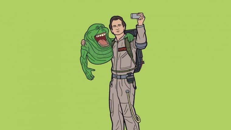 Ilustrador interpreta personagens dos anos 80 em tarefas cotidianas