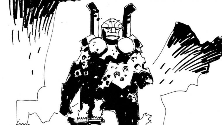 Novos Deuses   Esboços de Mike Mignola surgem na internet