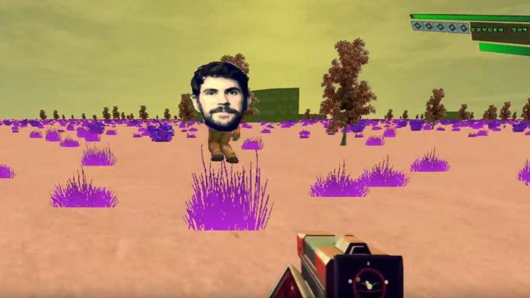 Alguém recriou No Man's Sky com os gráficos de Doom