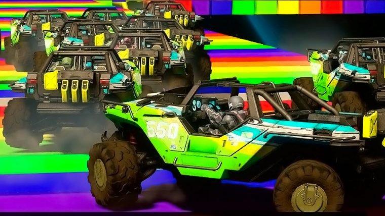 Pista Rainbow Road, de Mario Kart, é recriada em Halo 5