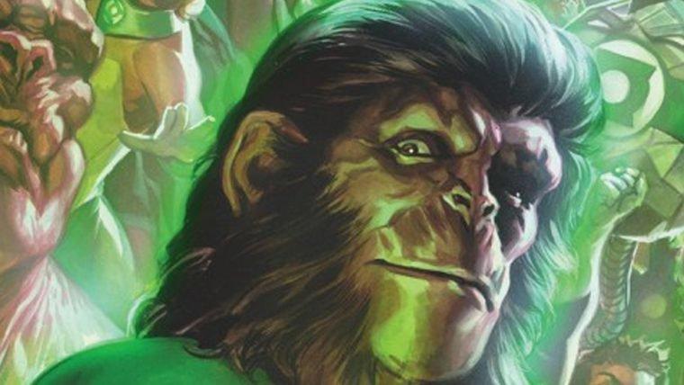 Veja as primeiras imagens do crossover de Planeta dos Macacos e Lanterna Verde