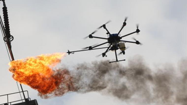 Esses drones com lança-chamas não vão fazer churrasquinho de humanos (por enquanto)