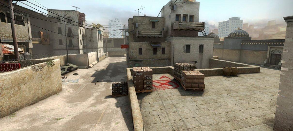 CS:GO   Valve remove mapa Dust2 o modo competitivo