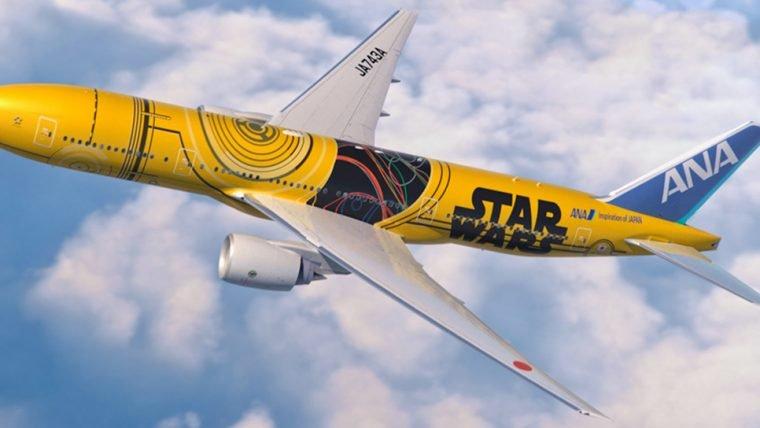 Star Wars | All Nippon Airways inaugura avião inspirado em C-3PO
