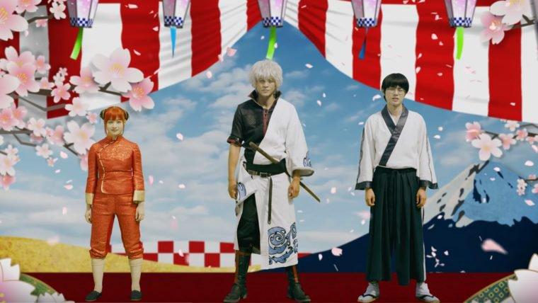 Gintama | Gintoki, Shinpachi e Kagura dançam em teaser do filme live-action