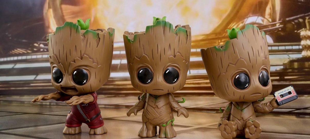Guardiões da Galáxia Vol. 2   Linha cosbaby da Hot Toys deixa o Groot ainda mais fofinho