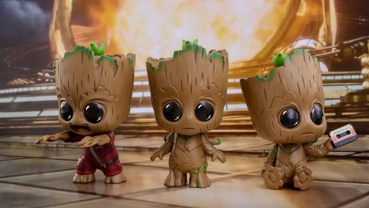 Guardiões da Galáxia Vol. 2 | Linha cosbaby da Hot Toys deixa o Groot ainda mais fofinho