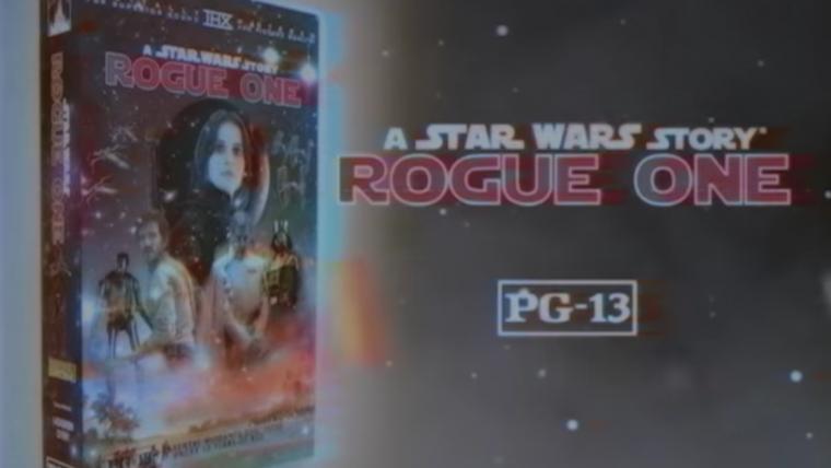 Ajuste agora as cores e o som do seu equipamento: imagina Rogue One lançado em VHS?