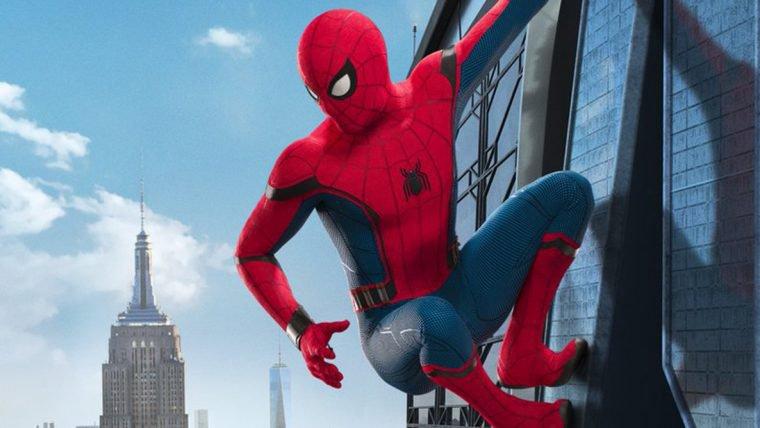 Homem-Aranha: De Volta ao Lar   Herói está curtindo a vista adoidado em novo cartaz