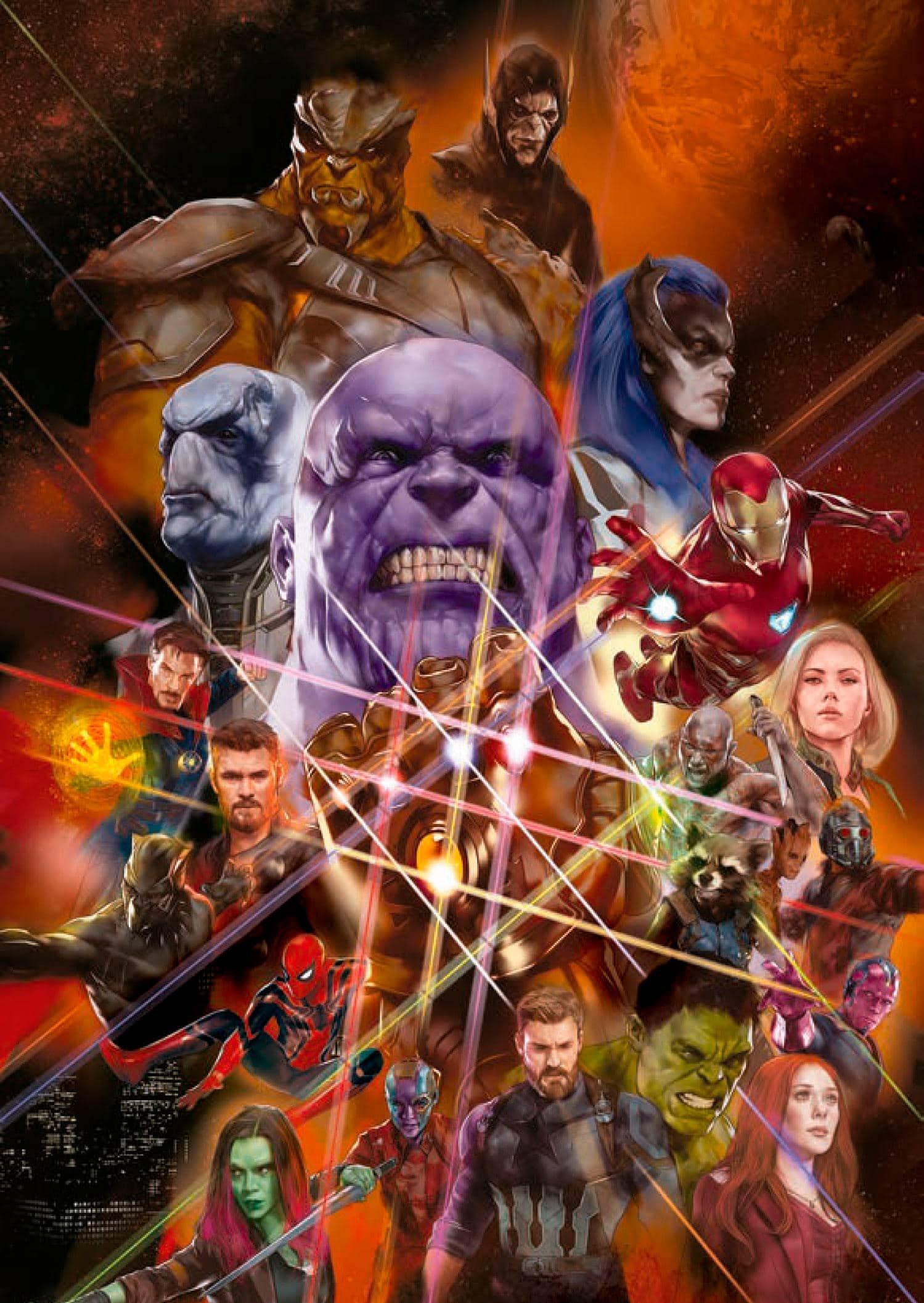 Sdcc 2017 Poster Completo De Vingadores Guerra Infinita E Uma