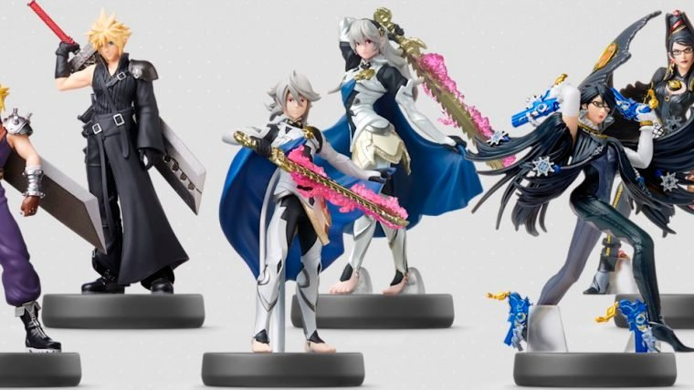 Amiibos de Cloud, Bayonetta, Corrin e três novos Link são revelados