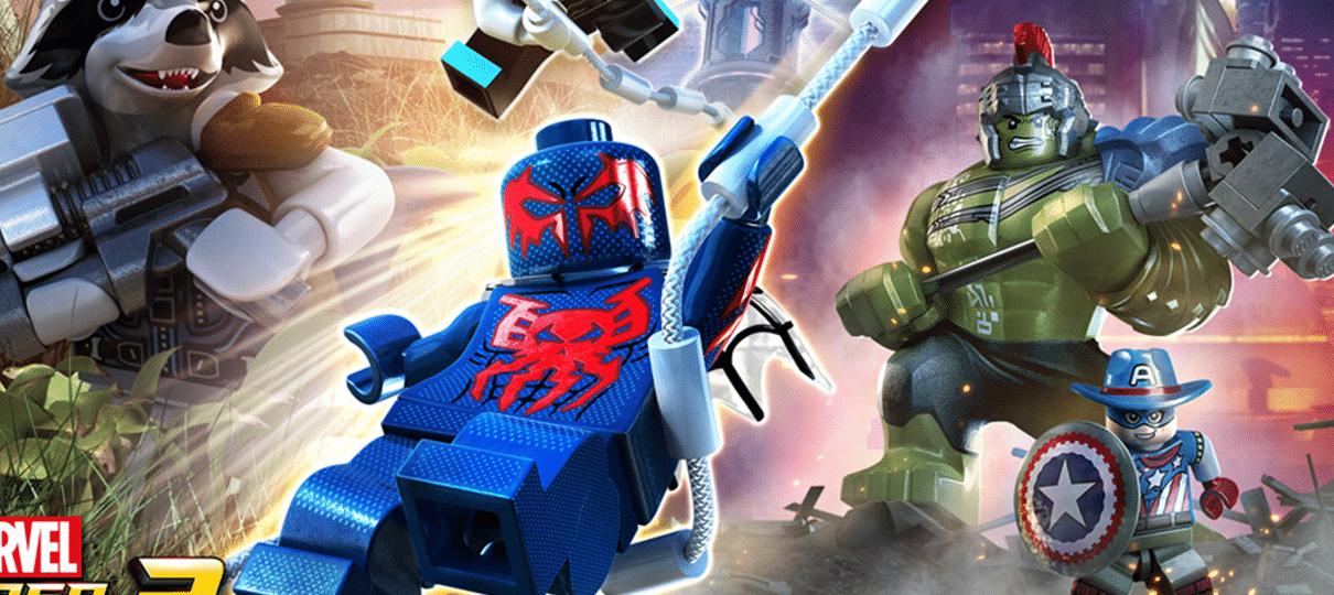 Lego Marvel Super Heroes 2 é anunciado com Hulk Gladiador, Baby Groot, Homem-Aranha 2099 e outros