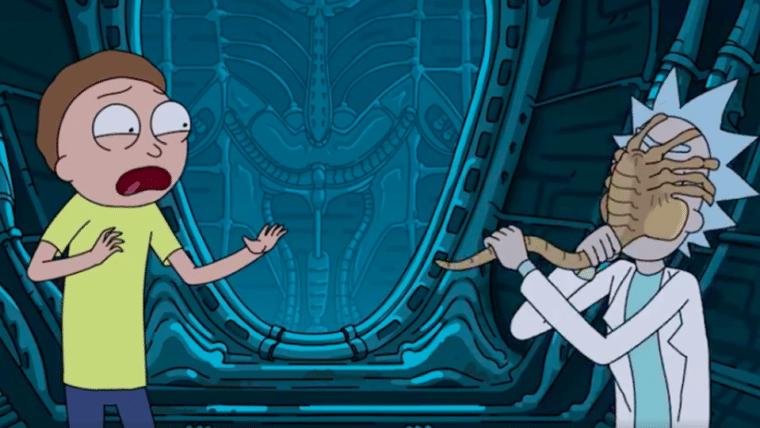 Rick and Morty faz crossover com Alien: Covenant! O alien não tem nem a menor chance...