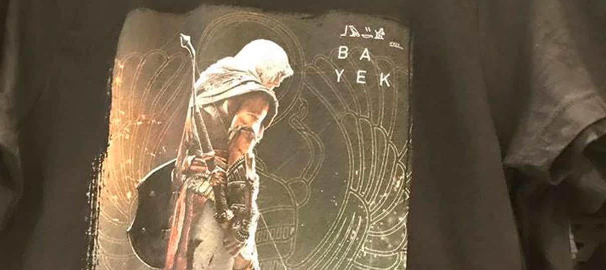Protagonista do novo Assassin's Creed é revelado em camiseta