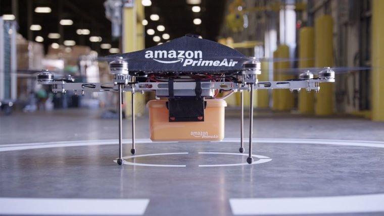Amazon registra patente para estacionamento gigante de drones