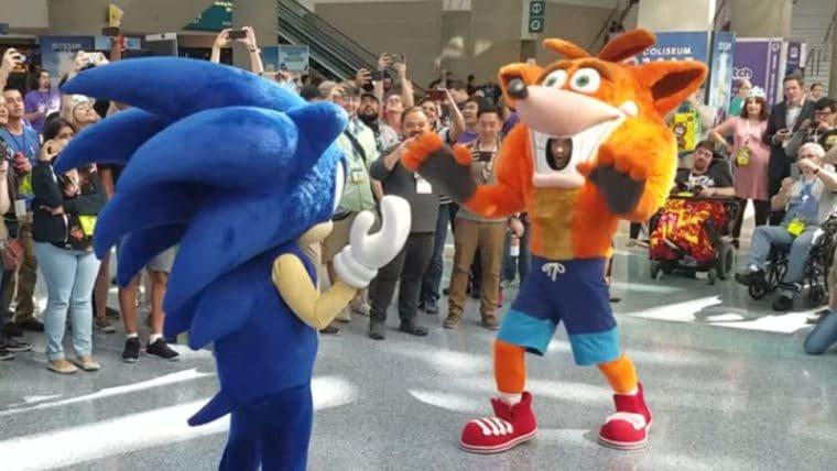 E3 2017 | Sonic e Crash fazem duelo de dança na feira