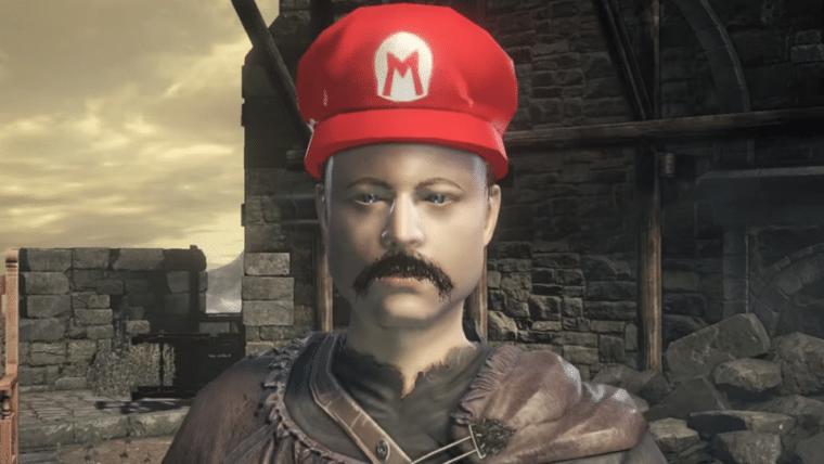 Recriaram o trailer de Super Mario Odyssey em Dark Souls