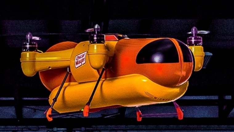 Marca cria drone exclusivamente para entregar cachorros quentes