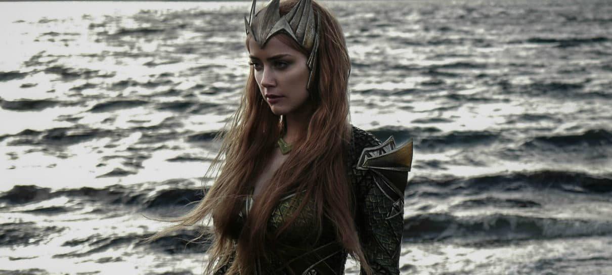 Amber Heard compartilha foto dos bastidores de Aquaman