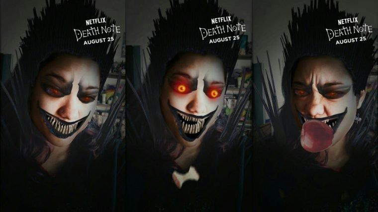 Agora o Snapchat tem um filtro que te deixa a cara do Ryuk de Death Note