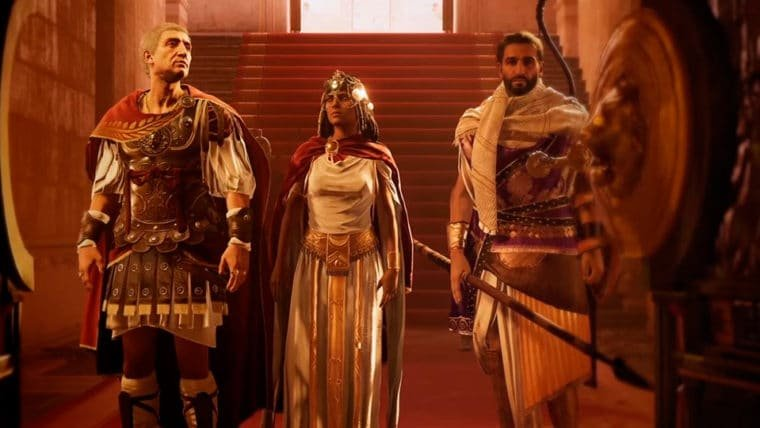 Assassin's Creed Origins mostra disputa entre Cleópatra, César e Ptolomeu em novo trailer