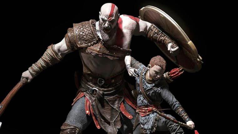 Veja fotos da estátua feita por brasileiros para a edição de colecionador de God of War!
