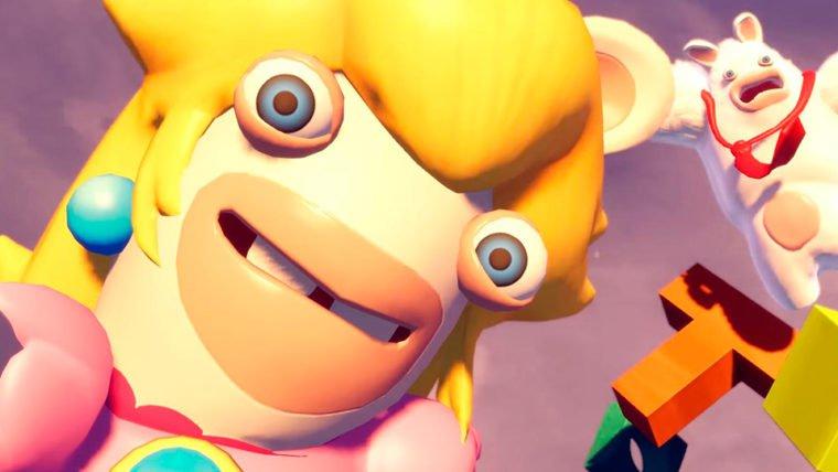 Mario + Rabbids Kingdom Battle | Rabbid Peach oferece o suporte perfeito no novo trailer