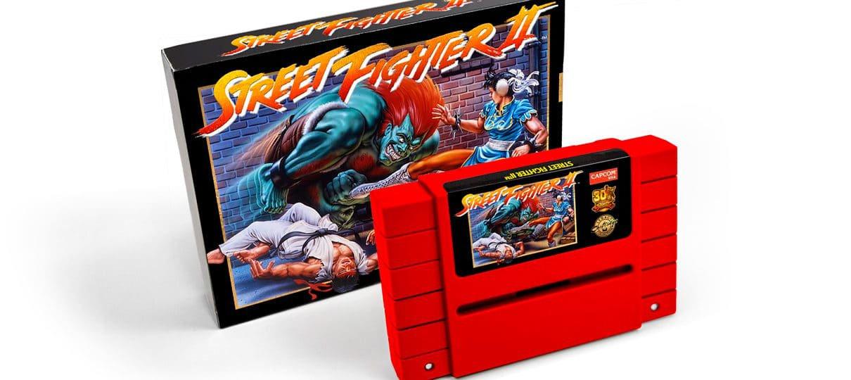 Street Fighter II será relançado como um cartucho de SNES!