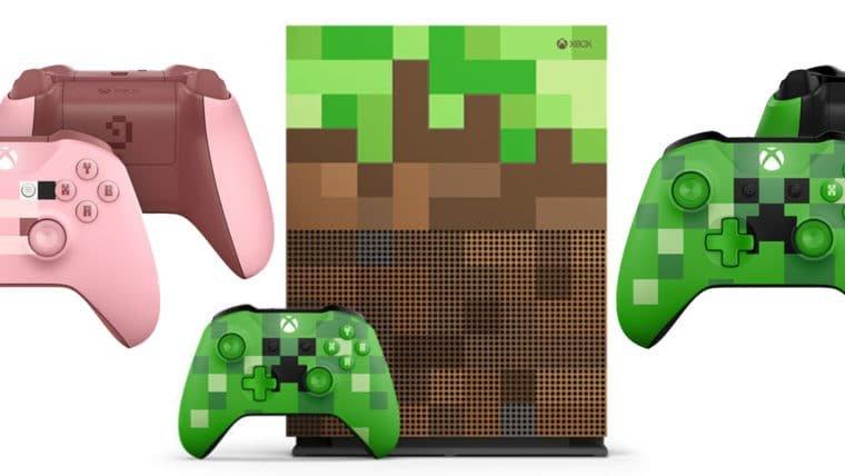Xbox One S temático de Minecraft chega como um Creeper