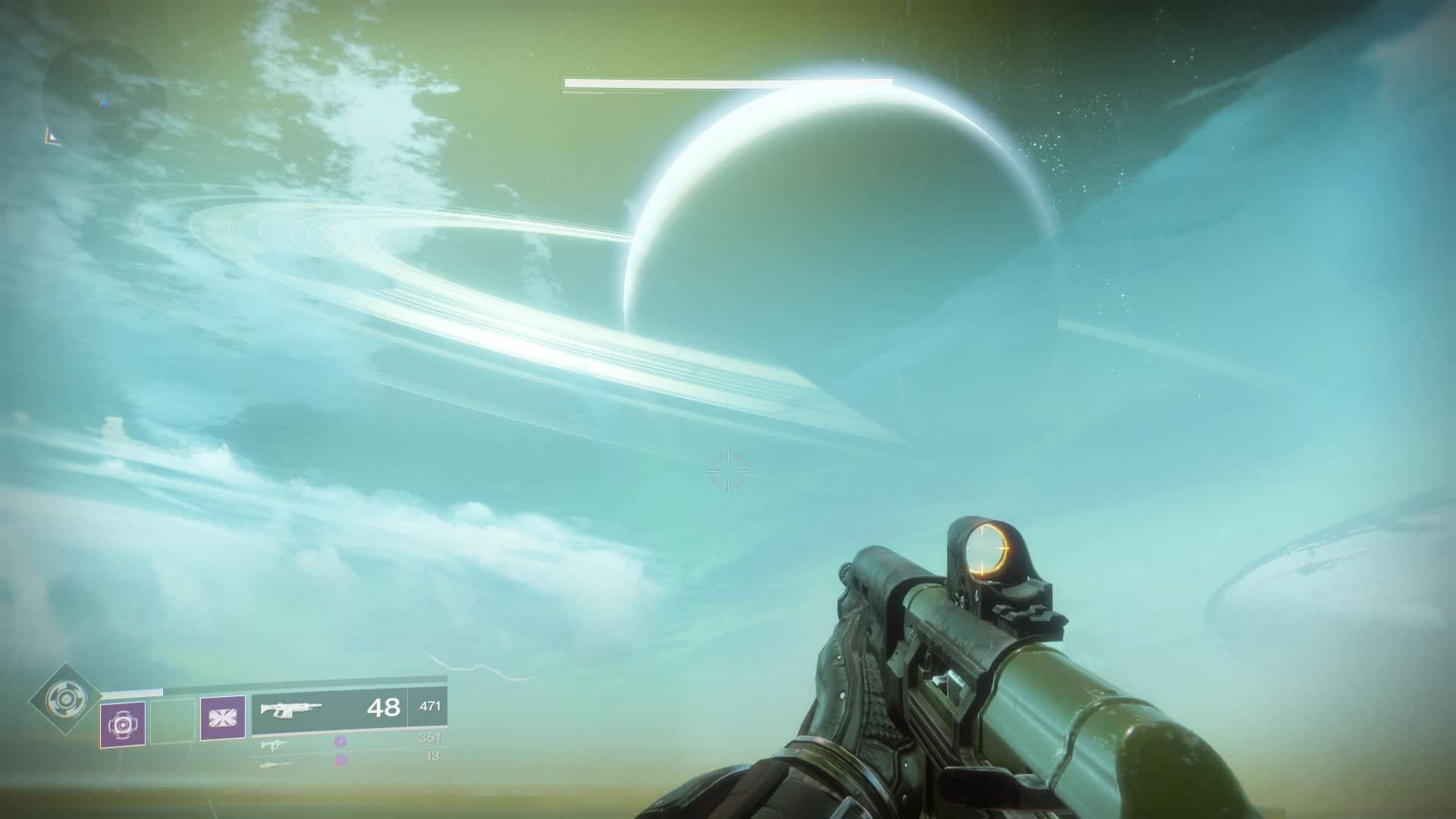 Sempre olhe para o céu, nele estão as mais belas paisagens em Destiny 2