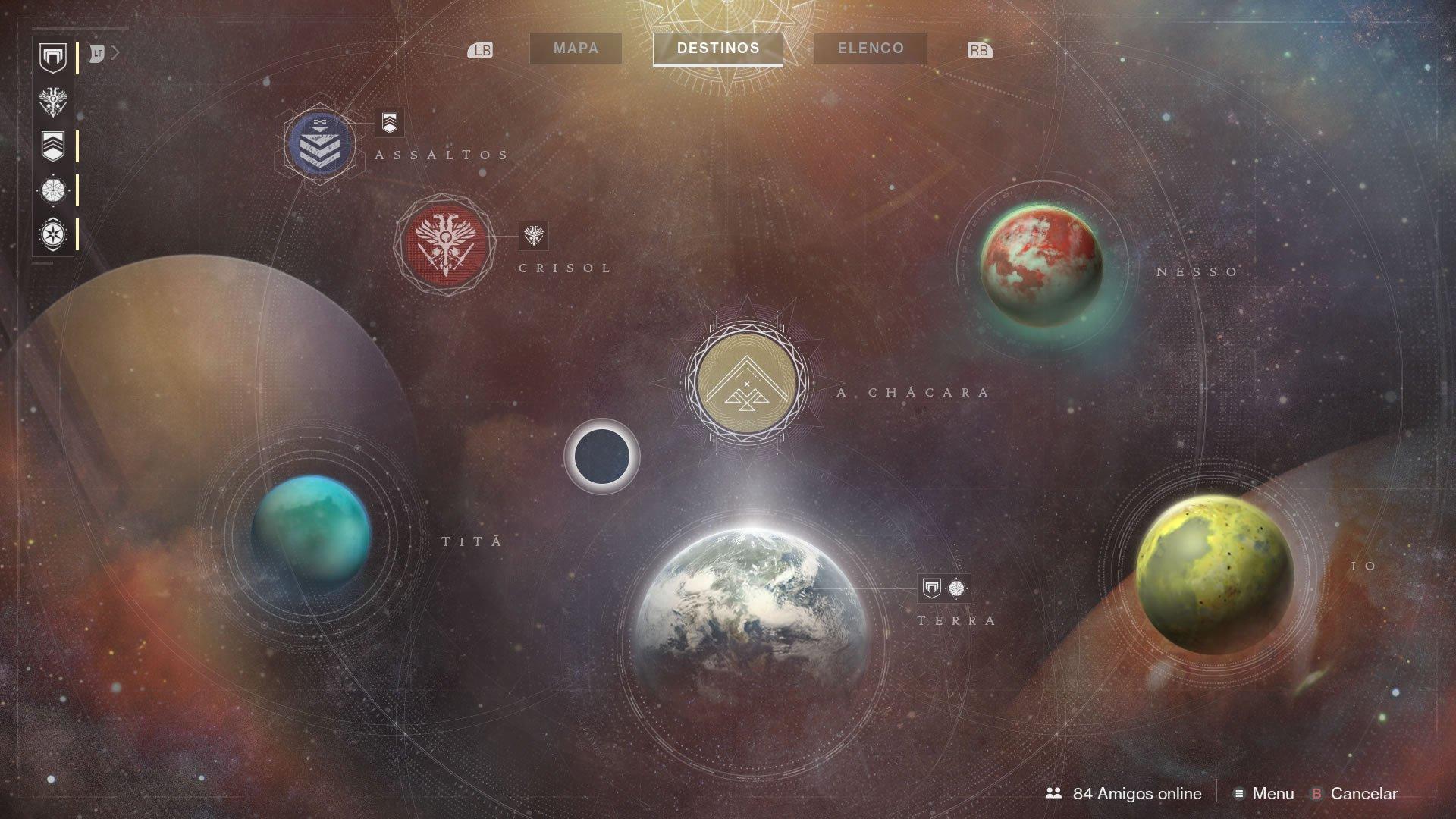 Mapa espacial, novos planetas, novas aventuras!