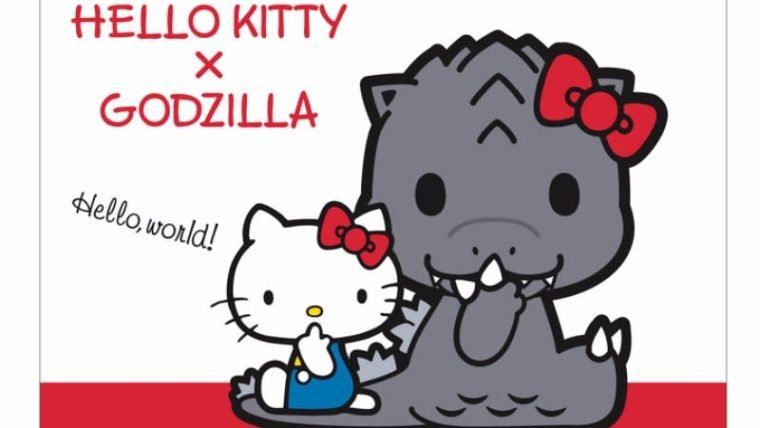 Hello Godzilla: monstro ganha versão fofa e vira BFF da Hello Kitty