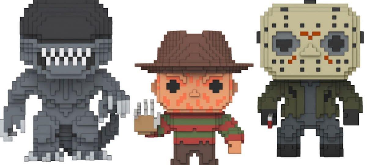 Personagens icônicos do terror vão te aterrorizar nessa nova coleção 8-bit da Funko Pop!