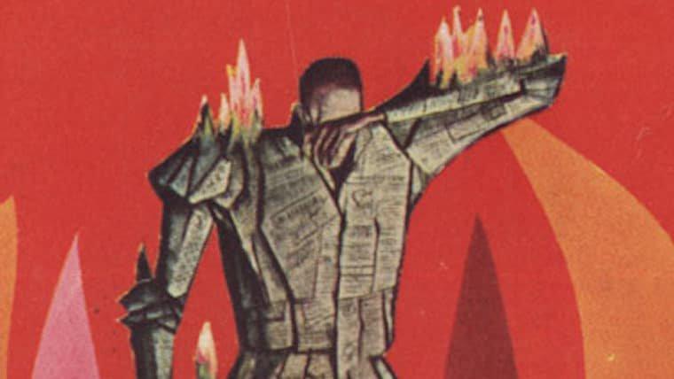 Essa edição de Fahrenheit 451 só pode ser lida se for queimada