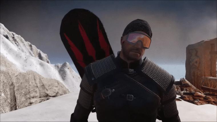 Geralt andou de snowboard durante o desenvolvimento de The Witcher 3