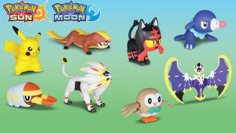 Pokémon de Sun e Moon invadirão o McLanche Feliz dos EUA em novembro