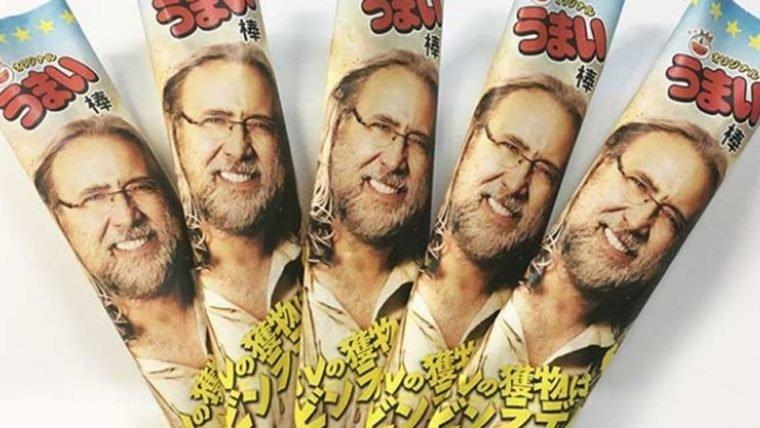 Nicolas Cage não sabia que estavam fabricando snacks com seu rosto estampado no Japão
