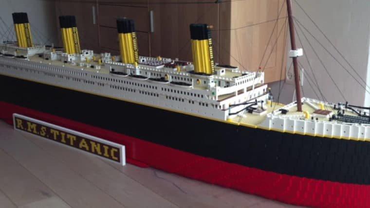 YouTuber constrói réplica gigante do Titanic com LEGO