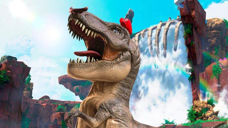 Vire um T-Rex de bigode devastador no novo gameplay de Super Mario Odyssey!
