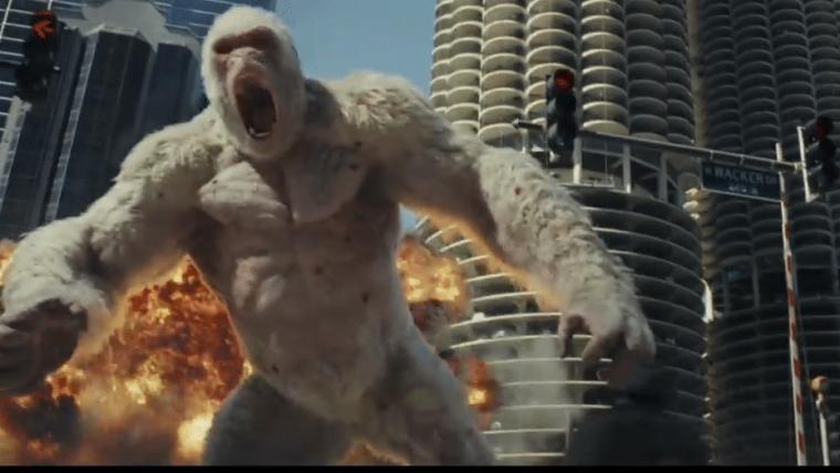 Rampage: Destruição Total |  The Rock enfrenta animais gigantes no primeiro trailer