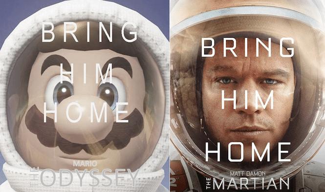 Fãs estão recriando cartazes de filmes em Super Mario Odyssey