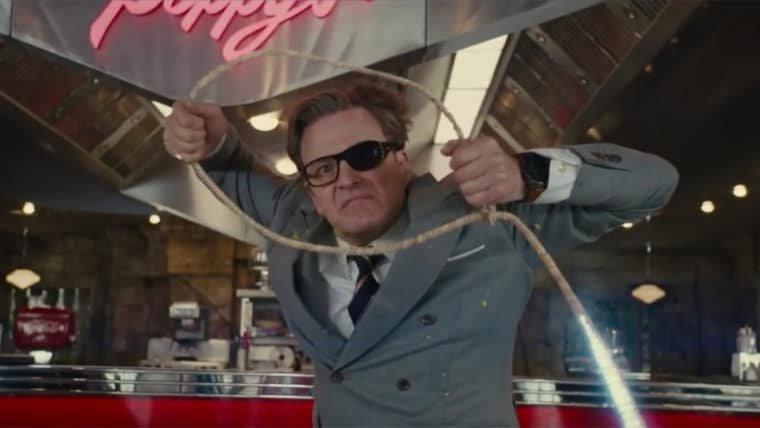 Kingsman: O Círculo Dourado   Veja como foi feita a cena da luta pela maleta